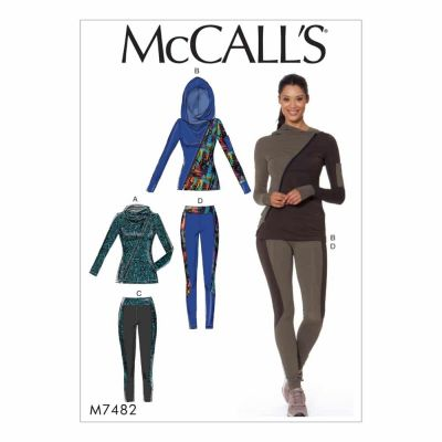 McCalls Sewing Pattern M7482 Misses' Asymmetrical-Zip Jacket and Seamed Leggings