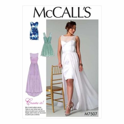 McCalls Sewing Pattern M7507 Misses' Mix-and-Match Sweetheart Dresses