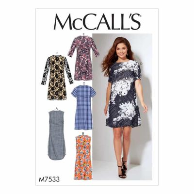 McCalls Sewing Pattern M7533 Misses'/Women's Fitted, Sheath Dresses