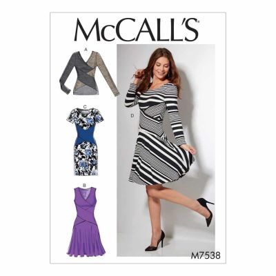 McCalls Sewing Pattern M7538 Misses' Crossover-Band Top and Dresses