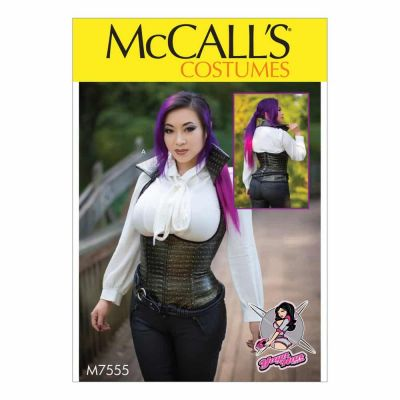 McCalls Sewing Pattern M7555 Underbust, Corset-Style Vests