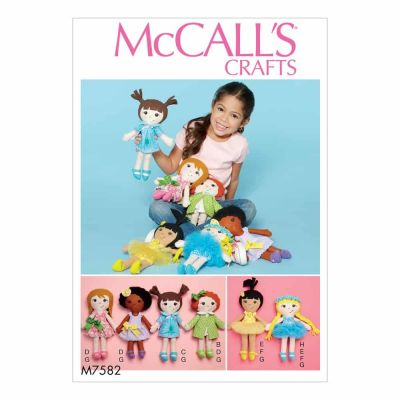 McCalls Sewing Pattern M7582 Cloth Doll and Clothes