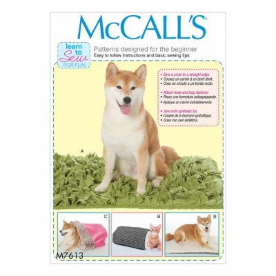 McCalls Sewing Pattern M7613 Pet beds with contrast and lining variations