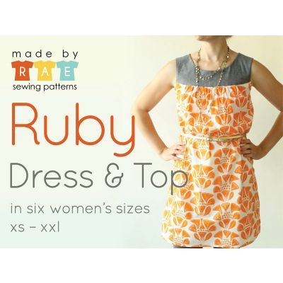 Made By Rae Sewing Patterns -  Ruby Dress Dressmaking Pattern