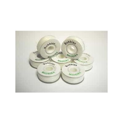 White Pre Wound Sided Bobbins - Pack of 10