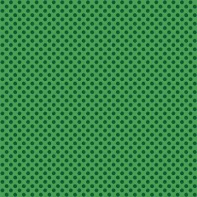 Makower Christmas Novelty Polka Dot Green Cut Length
