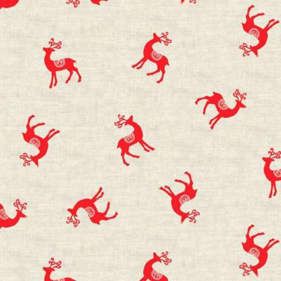 Makower Scandi 2018 Reindeer Red Cut Length