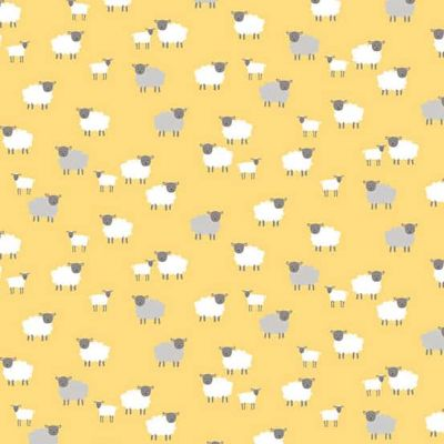Makower - Spring - Sheep Yellow