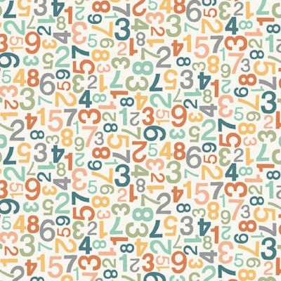 Makower - Jungle Friends - Numbers White