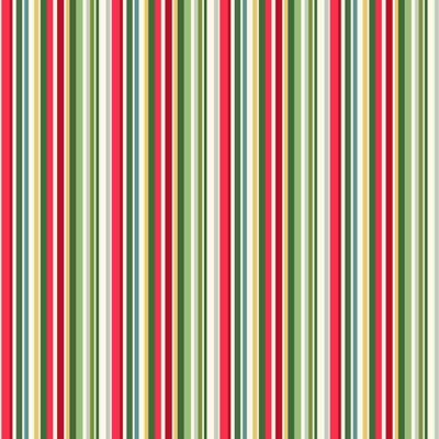 Makower - Yuletide - Straight Stripe Multi