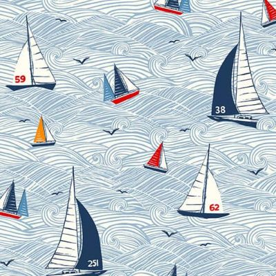 Makower Sail Away Seascape Multi Cut Length