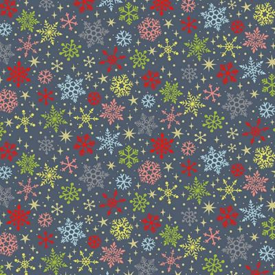 Makower - Joy - Snowflakes Grey