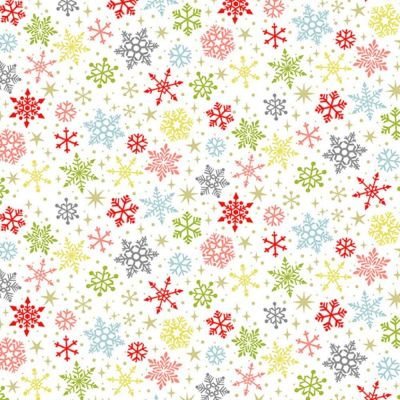 Makower - Joy - Snowflakes White