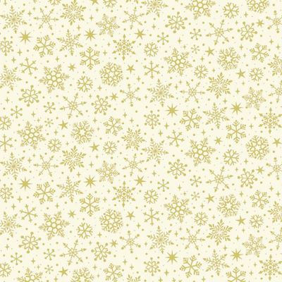 Makower - Yuletide - Snowflake Cream Metallic