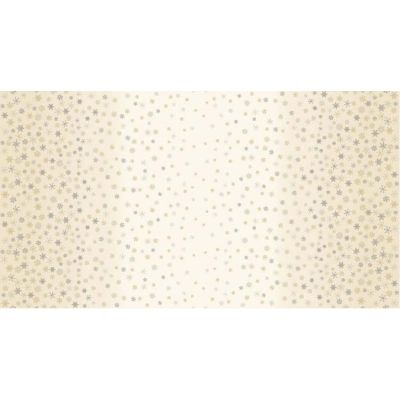 Makower - Snowflake Ombre - Cream