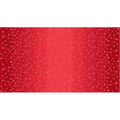 Makower - Snowflake Ombre - Red