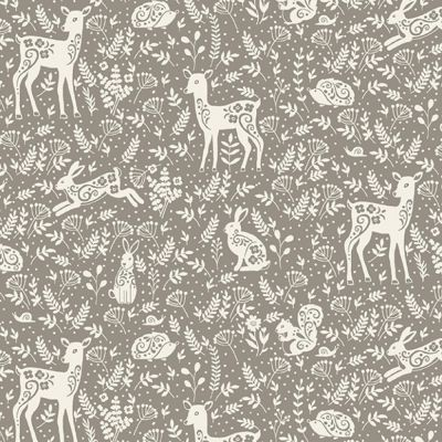 Makower - Clara's Garden - Animals Grey
