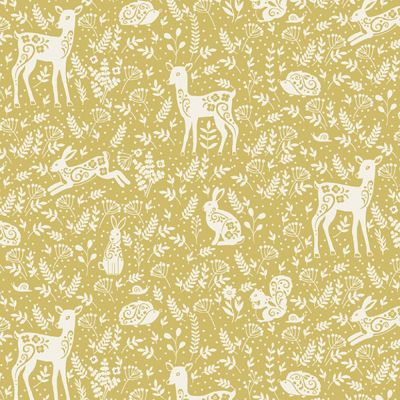 Makower - Clara's Garden - Animals Yellow