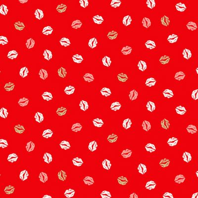 Remnant - Makower - Pamper - Lips Red - 41 x 110cm
