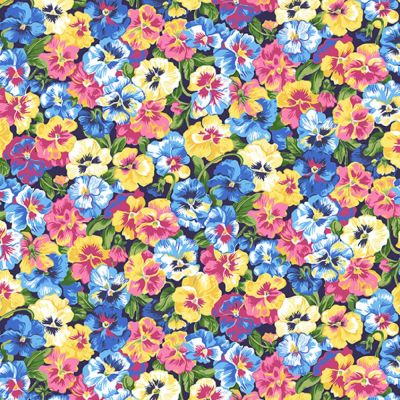 Makower - Summer Garden - Pansy Blue