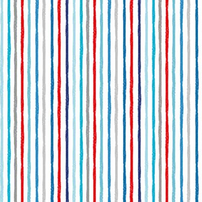 Remnant - Makower - Beside The Sea - Chalky Stripes White - 45 x 110cm