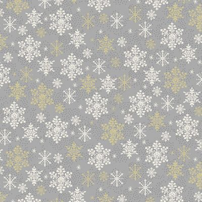 Makower - Scandi 2021 - Snowflake Silver Metallic