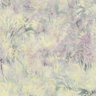 Makower Island Batiks 2020 Wild Flowers Ivory Cut Length