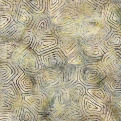 Makower Island Batiks 2020 Spirals Dark Cream Cut Length