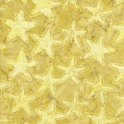 Makower - Island Batiks - Starfish Natural