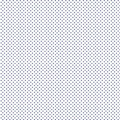 Makower - Spot On - Navy On White