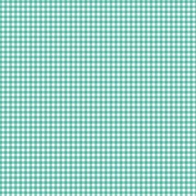 Makower New Gingham Teal Cut Length