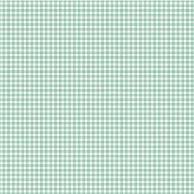 Remnant - Makower - New Gingham - Teal - 26 x 110cm