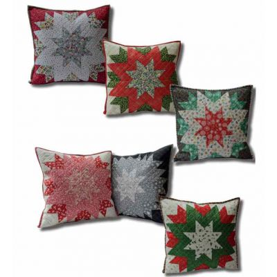 Makower - Christmas Star - Cushion Pattern For Christmas 2019 - Free Instant Download