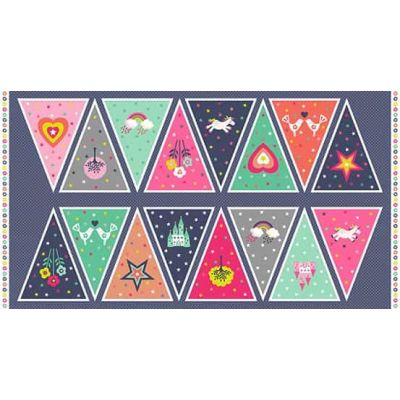 Makower - Fantasy Bunting 60cm Panel