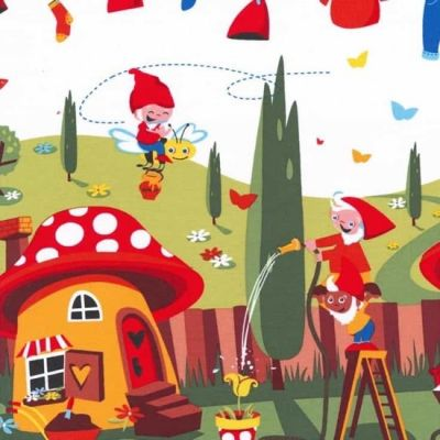 Michael Miller - Gnomes - Gnomeville Red