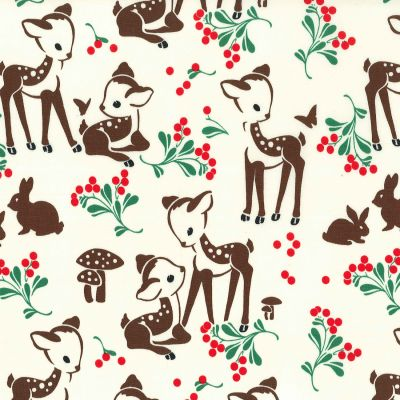 Michael Miller - Holiday - Fawn Memories Cream