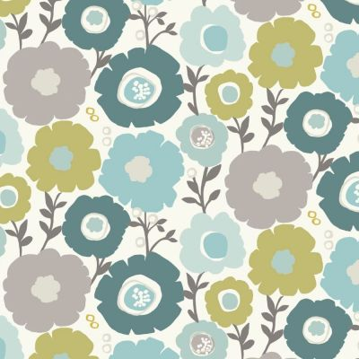 Mimi - Seafoam - Curtain Fabric