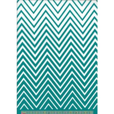 Moda - Simply Colorful II - Zig Zag Turquoise
