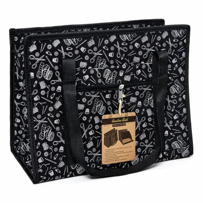 Hemline Gold Notions Print Premium Multi-Use Craft Bag