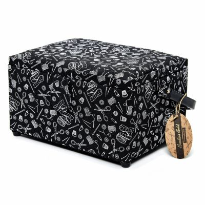 Hemline Gold Notions Print Premium Sewing Box - Medium