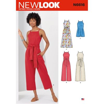 New Look Sewing Pattern 6616 - Misses Dress And Jumpsuit