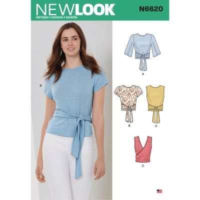 New Look Sewing Pattern 6620 - Misses Wrap Tops