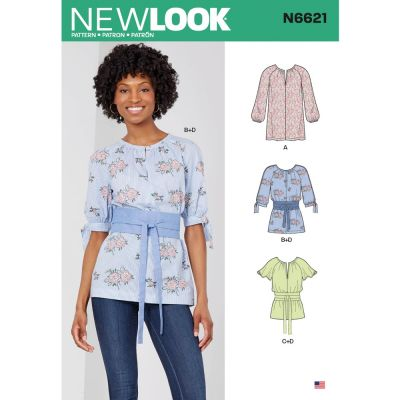 New Look Sewing Pattern 6621 - Misses Top Or Tunic