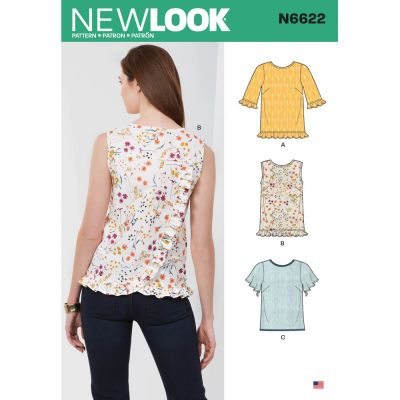 New Look Sewing Pattern 6622 - Misses Tops