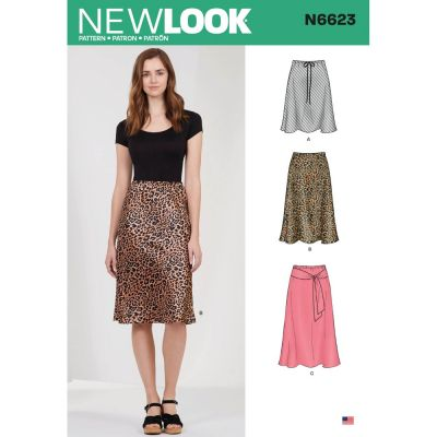 New Look Sewing Pattern 6623 - Misses Skirt In Three Lengths