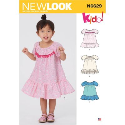 New Look Sewing Pattern 6629 - Toddlers Dresses