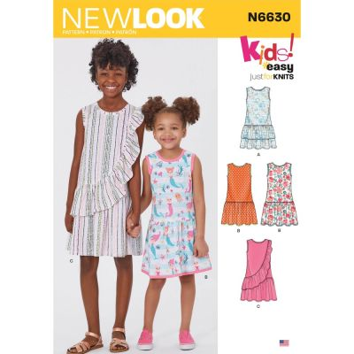 New Look Sewing Pattern 6630 - Childrens And Girls Dresses