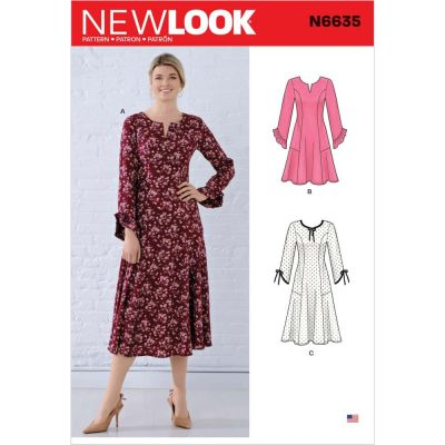 New Look Sewing Pattern 6635 - Misses Princess Seamed Dresses