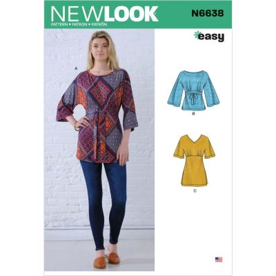 New Look Sewing Pattern 6638 - Misses Knit Tops