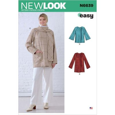 New Look Sewing Pattern 6639 - Misses Poncho and Jackets